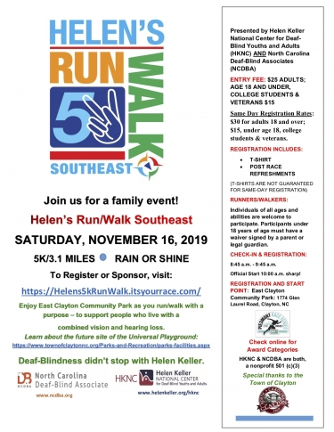 Flyer for the HKNC Run/Walk Southeast