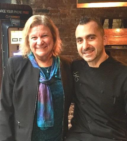 Sue Ruzenski and Marc Forgione