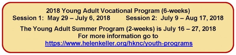 2018 Young Adult Vocational Program