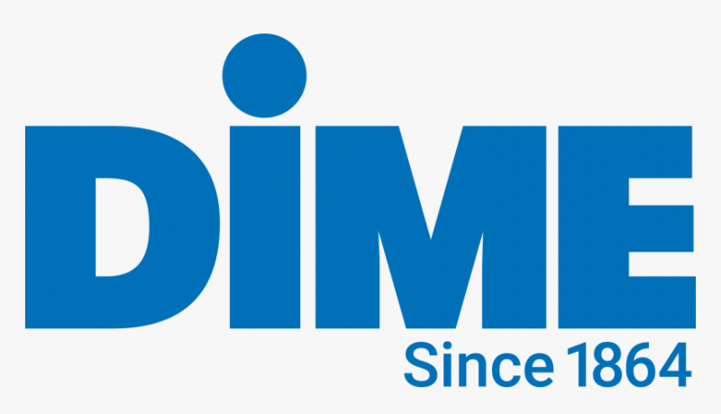 Dime Bank logo blue writing