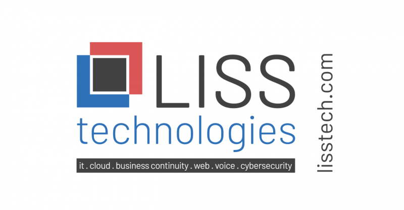 LISS logo. Blue Square intersecting with a red square and a black square where they overlap.